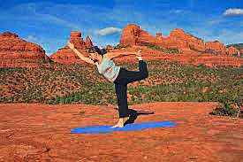 Manifest Peace Within Through Yoga during a session with Sedona Vortex Adventures