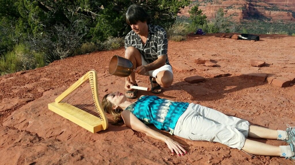 Re-Connecting Within Through a Sound Healing Session on Red Rocks