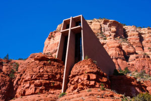 Sacred vortex at the Chapel of the Holy Cross in Sedona