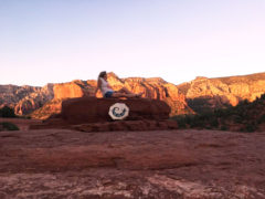Relaxing after a Shamanic Drum Ceremony in Sedona, AZ