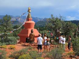 Stupa for Meditation is a well used place in Sedona