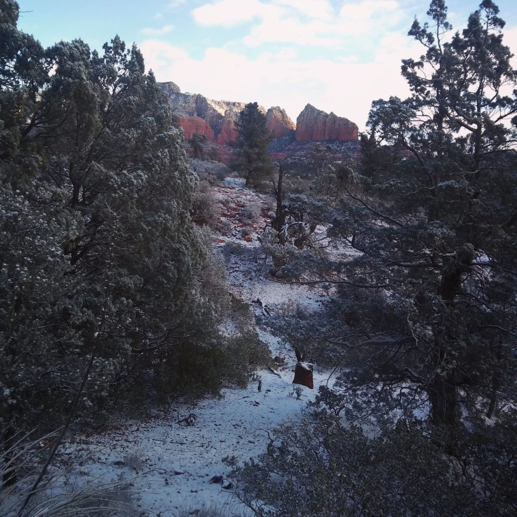 vortex sedona winter snow