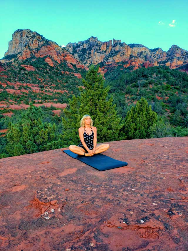 Yoga on Red Rocks of Sedona